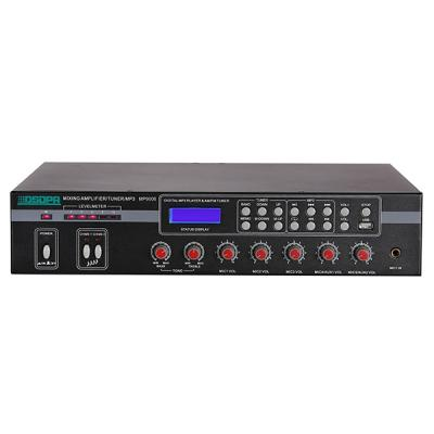 MP9006 5 Mic & 2 AUX Mixer Amplifier com USB e FM